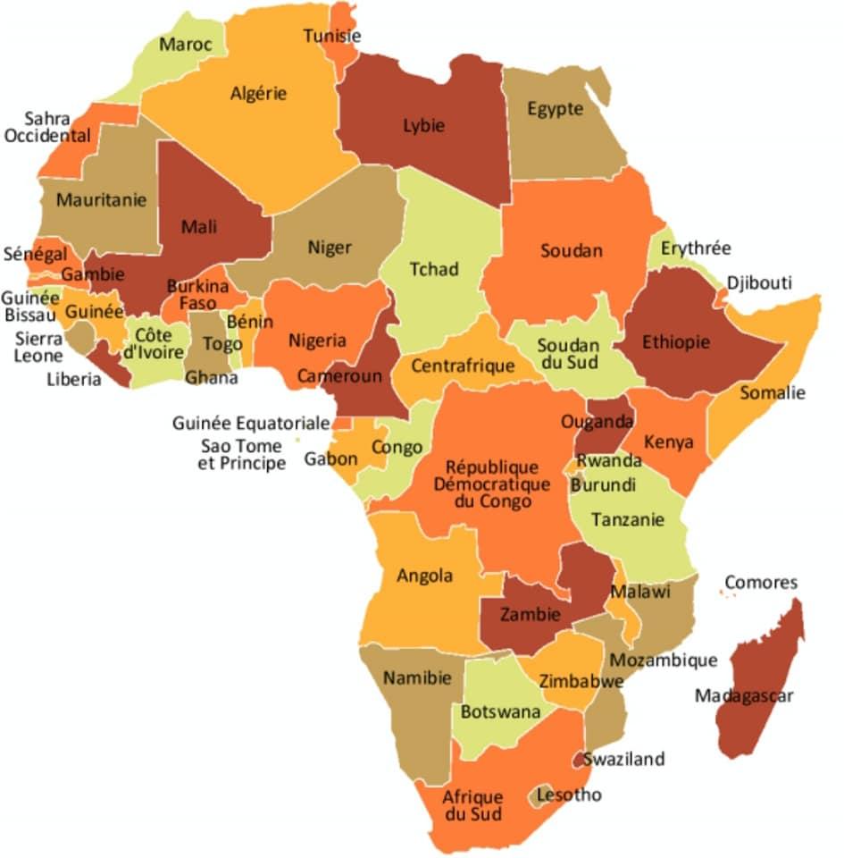ÉLECTIONS PRÉSIDENTIELLES EN 2021 EN AFRIQUE, LISTE DES PAYS