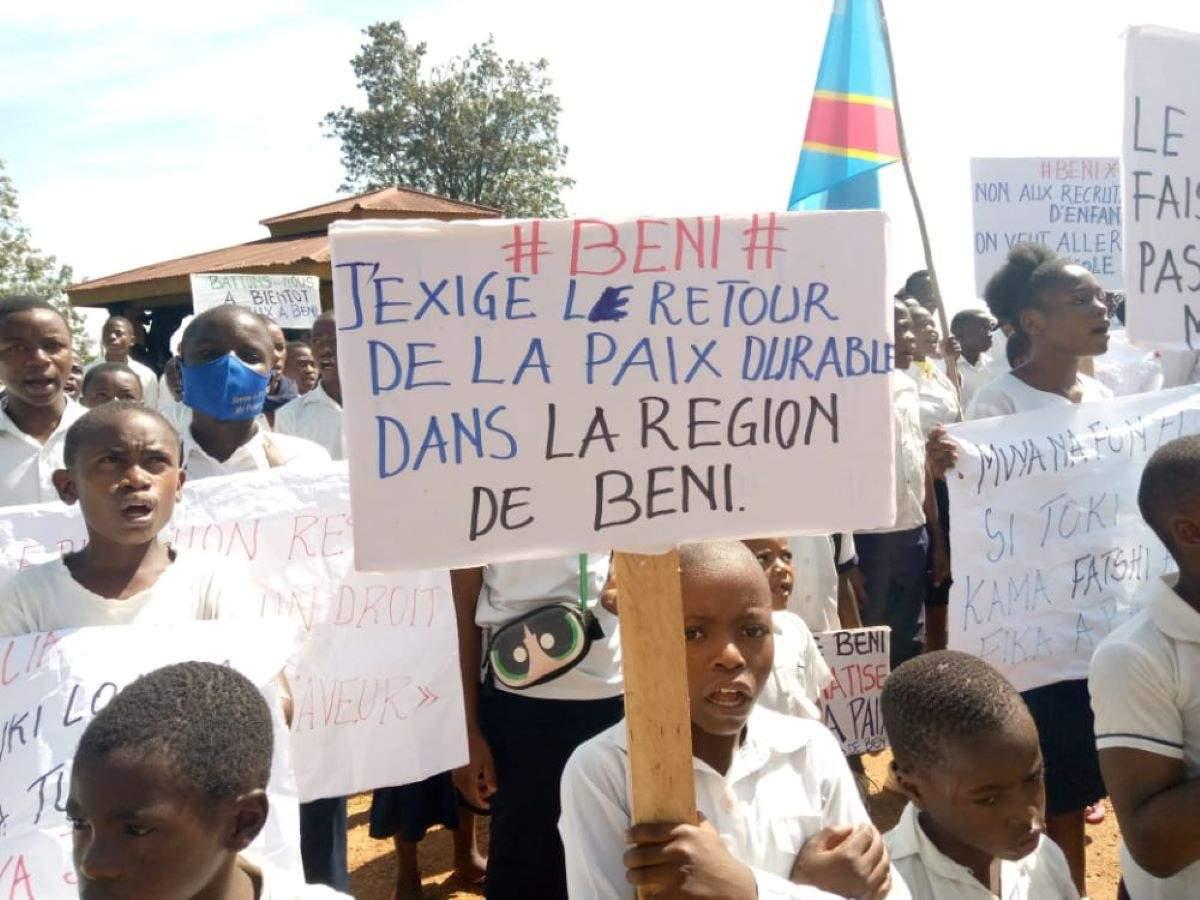 ÉCOLIERS INTERPELLÉS APRÈS UN SIT-IN EN RDC