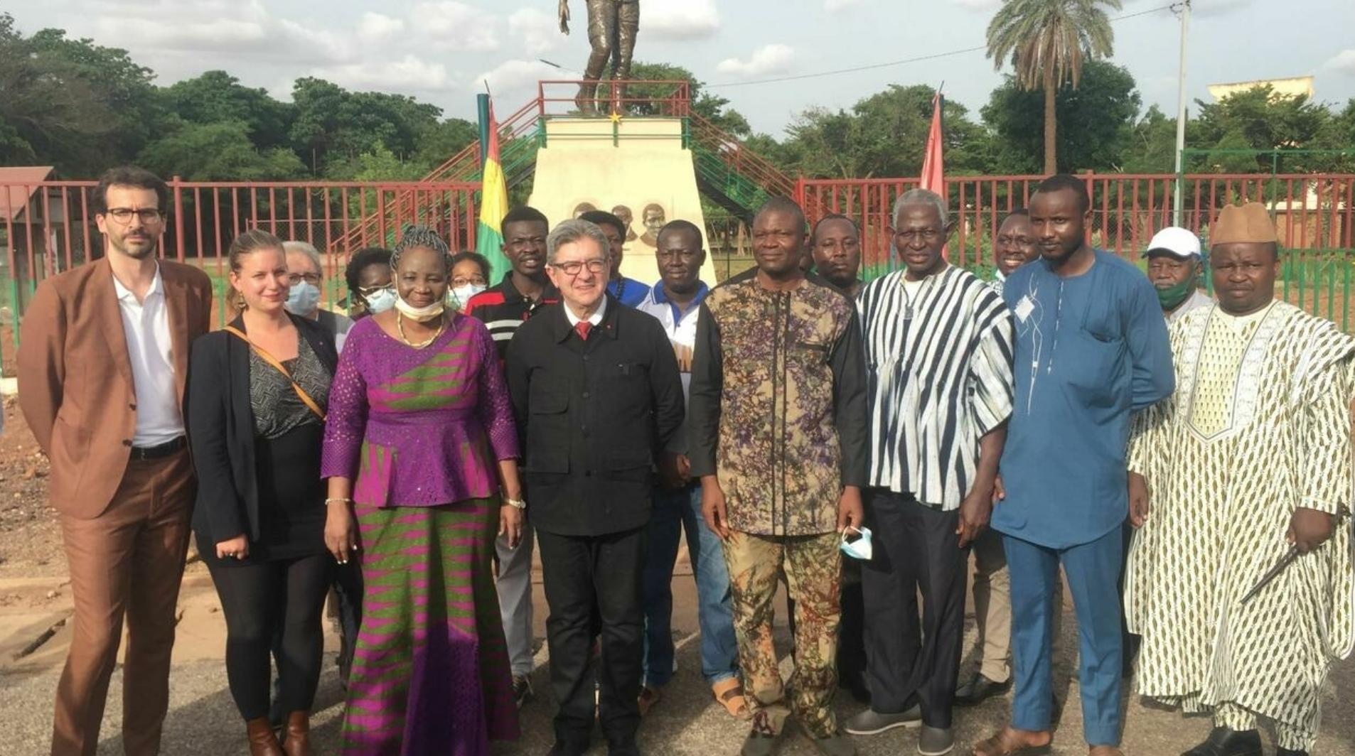 LE DÉPUTÉ JEAN LUC MÉLENCHON EN AFRIQUE